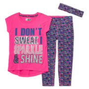 RBX 3-pc. Tee, Capris and Headband Set - Preschool Girls 4-6x