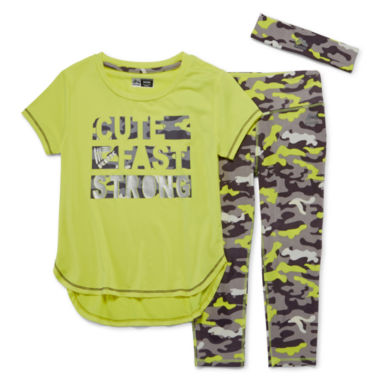 jcpenney.com | RBX 3-pc. Fast Tee, Capris and Headband Set - Girls 4-6x