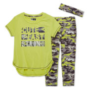 RBX 3-pc. Fast Tee, Capris and Headband Set - Girls 4-6x