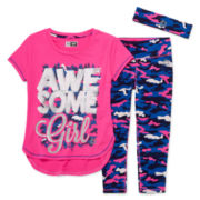RBX 3-pc. Awesome Tee, Capris and Headband Set - Preschool Girls 4-6x