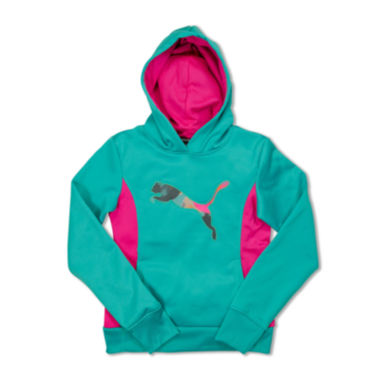 jcpenney.com | Puma® Tech Cat Long-Sleeve Knit Hoodie - Preschool Girls 4-6x