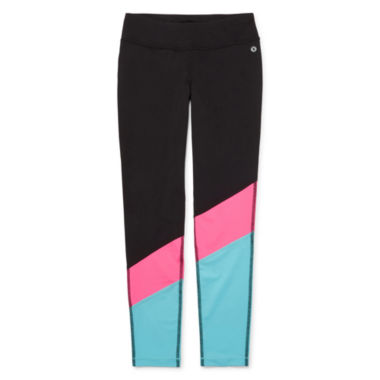 jcpenney.com | Xersion™ Chevron Block Tights - Girls 7-16