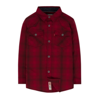 jcpenney.com | Levi's® Barstow Long-Sleeve Plaid Shirt - Preschool Boys 4-7