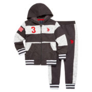 U.S. Polo Assn.® 2-pc. Hoodie And Jogger Set - Preschool Boys 4-7