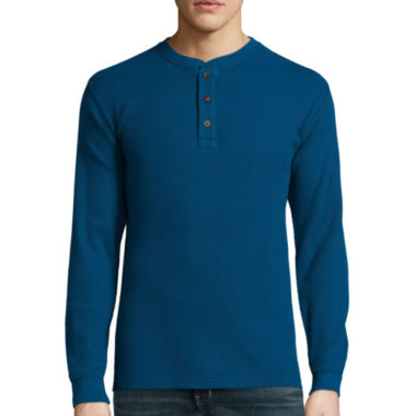 jcpenney.com | St. John's Bay® Long-Sleeve Thermal Henley Shirt