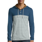 The Foundry  Supply Co.™ Raglan Henley Hoodie - Big & Tall