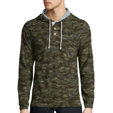 jcpenney.com | Arizona Lightweight Printed Henley Hoodie