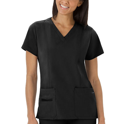 JOCKEY SCRUBS LADIES V NECK TOP PLUS
