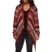 Arizona Long-Sleeve Blanket Cardigan - Juniors Plus