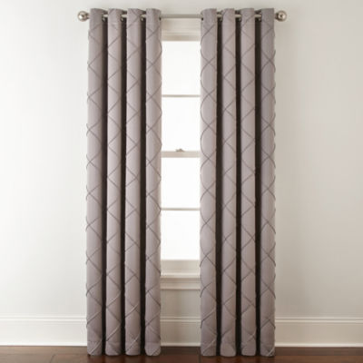 JCPenney Home Kathryn Diamond Pleated Grommet Top Curtain Panel