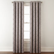 Liz Claiborne® Kathryn Diamond Pleated Grommet-Top Curtain Panel