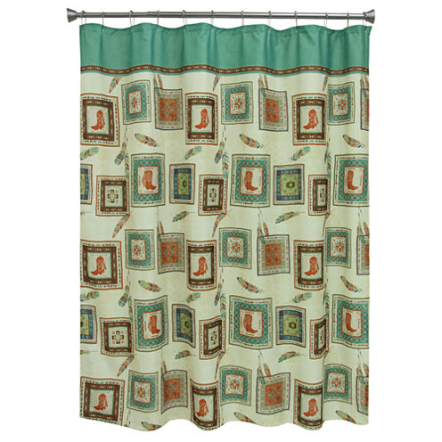 Bacova Guild Southwest Boots Shower Curtain