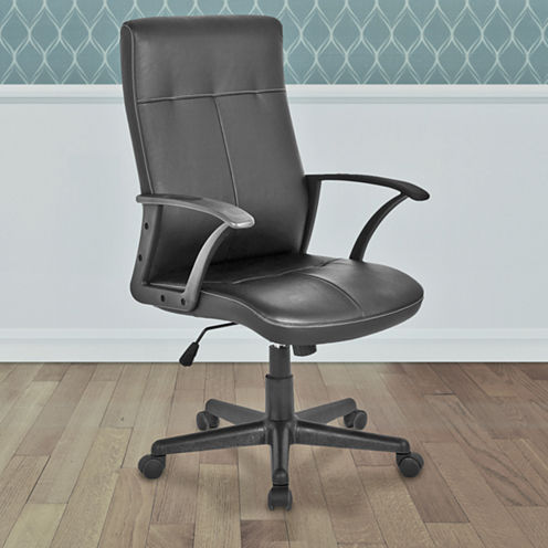 WORKSPACE FAUX-LEATHER OFFICE CHAIR