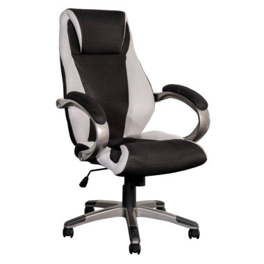 jcpenney.com | BIFMA Workspace Black And Grey Mesh Fabric Managerial Office Chair