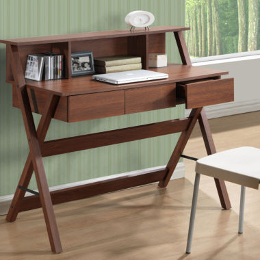 jcpenney.com | Folio Three Drawer Desk with Low Profile Hutch