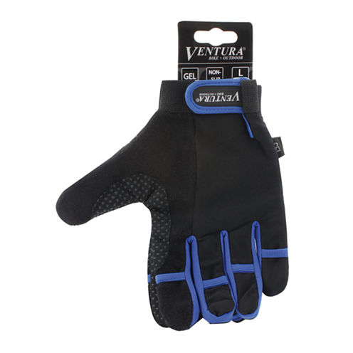 Ventura Unisex Bike Blue Full Finger Touch Gloves