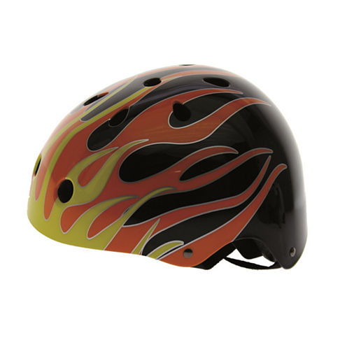 Ventura Silver/Red In-Mold Helmet