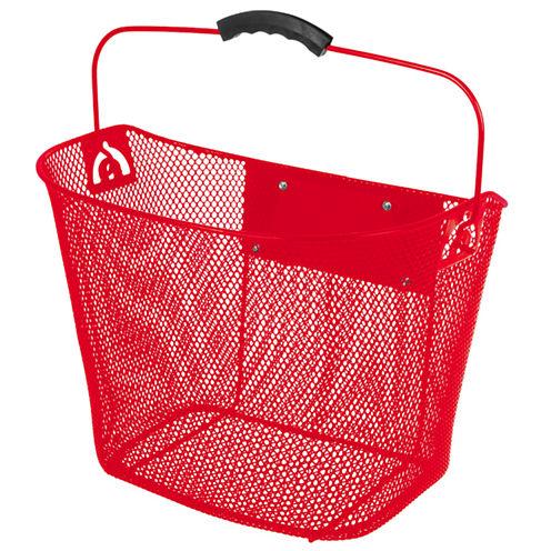 Ventura Unisex Quick Release Red Wire Basket