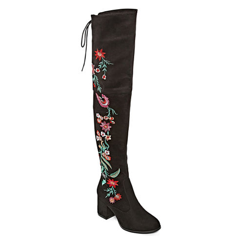 2 Lips Too Bianca Womens Over the Knee Boots