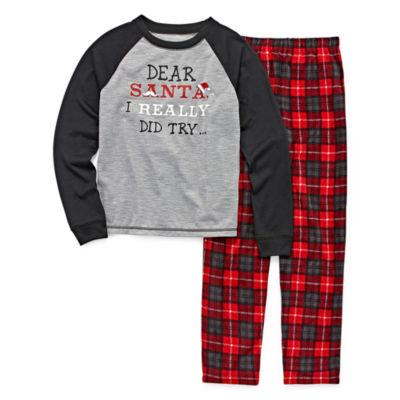 #FAMJAMS Dear Santa Family Pajama Set- Big Kid