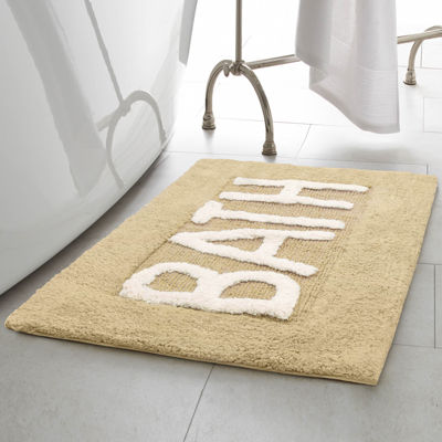 Creative Home Word Cotton 21x34 Bath Rug by Jean Pierre