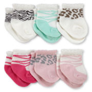 Carter's® 6-pk. Terry Animal Socks - Girls