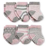 Carter's® 6-pk. Pink Socks - Girls