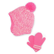Carter's® Pink Pom Hat and Mitten Set - Girls