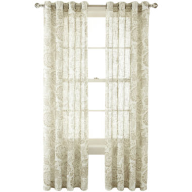 jcpenney.com | MarthaWindow™ Tuileries Grommet-Top Sheer Panel