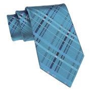 Van Heusen® Plaid Overlay Silk Tie