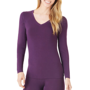 jcpenney.com | Cuddl Duds® Softwear Long-Sleeve V-Neck T-Shirt