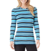 Cuddl Duds® Fleecewear Long-Sleeve Crewneck T-Shirt