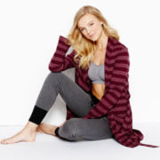Flirtitude® Bralette, Slim-Fit Sleep Pants or Striped Knit Robe