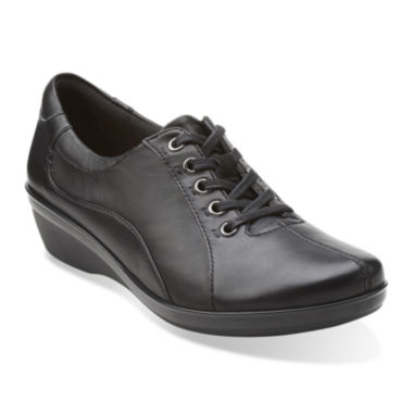 jcpenney.com | Clarks® Everlay Elma Leather Lace-Up Womens Oxfords