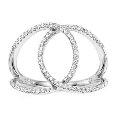 jcpenney.com | 1/4 CT. T.W. Diamond 10K White Gold Interlocking Circle Ring