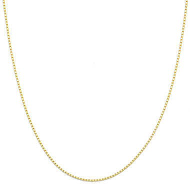 "jcpenney.com | 14K Yellow Gold 18"" Box Chain Necklace"