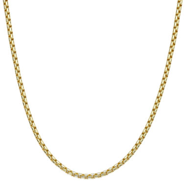 "jcpenney.com | 10K Yellow Gold 24"" Hollow Box Chain Necklace"