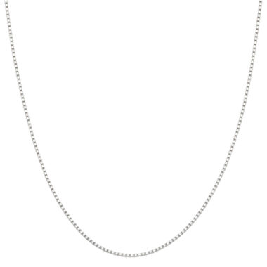 "jcpenney.com | 14K White Gold 20"" Box Chain Necklace"