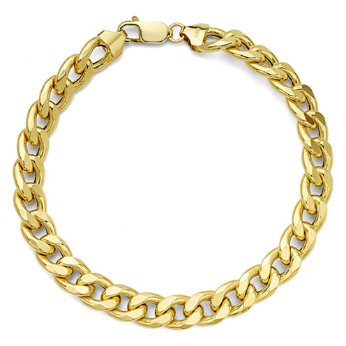 Made in Italy 10K Yellow Gold Curb Chain Bracelet