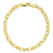 18K Gold Over Silver Oval Link Chain Bracelet