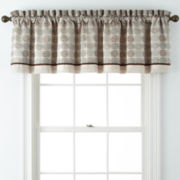 Roundabout Rod-Pocket Jacquard Tailored Valance