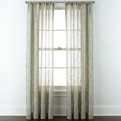 Liz Claiborne® Giselle Floral Rod-Pocket Curtain Panel