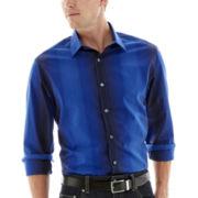 Claiborne® Long-Sleeve Blue Woven Shirt