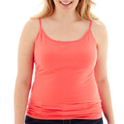 Arizona Favorite-Stretch Cotton Cami - Juniors Plus