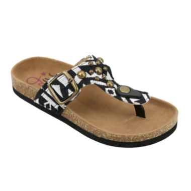 jcpenney.com | OMGirl Kimber Multi-Studded Aztec-Print Cork Girls Sandals - Little Kids