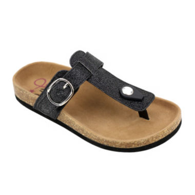 jcpenney.com | OMGirl Caelin Girls Glitter Buckle Cork Sandals - Little Kids