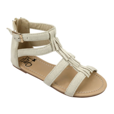 jcpenney.com | OMGirl Miya Multi-Strap Fringe Girls Sandals - Little Kids