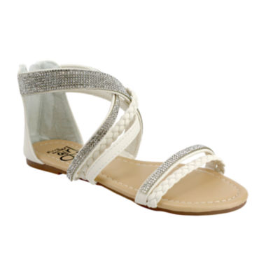 jcpenney.com | OMGirl Essence Multi-Braided Back-Zip Girls Sandals - Little Kids
