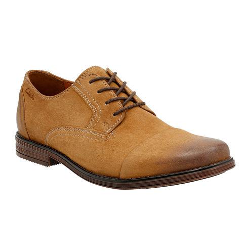 Clarks® Holmby Cap Mens Suede Cap-Toe Oxford Shoes