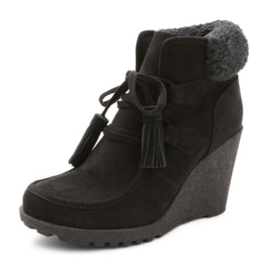 jcpenney.com | UNIONBAY® Pretty Wedge Booties